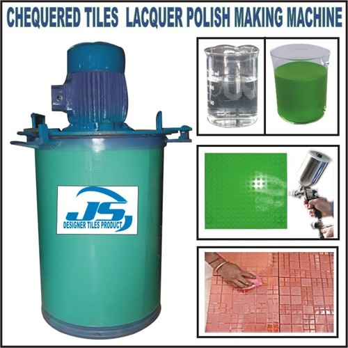 CHEQUERED TILE LACQUER POLISH MAKING MACHINE