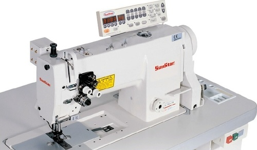 High Speed, 2-Needles, Needle Feed, Lock Stitch Sewing Machine with Automatic Thread Trimmer