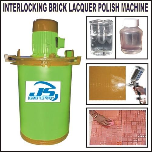 INTERLOCKING BRICK LACQUER POLISH MAKING MACHINE