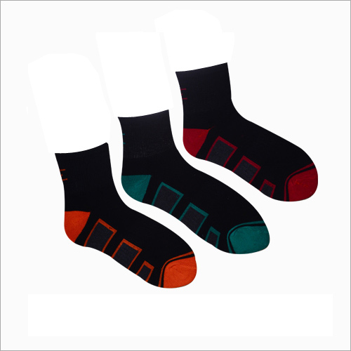 Mens Strips Print Ankle Socks