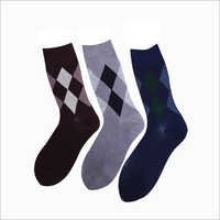 Mens Printed Crew Socks