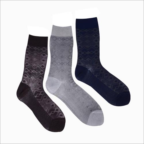 Mens Trendy Print Crew Socks
