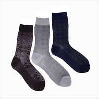 Mens Trendy Print Crew Socks