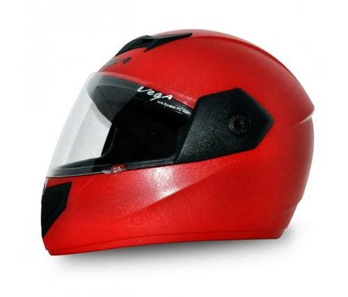 崖の空気赤のヘルメット