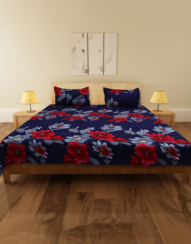 Cocofoam Double Poly Cotton Multi Floral Bed Sheet
