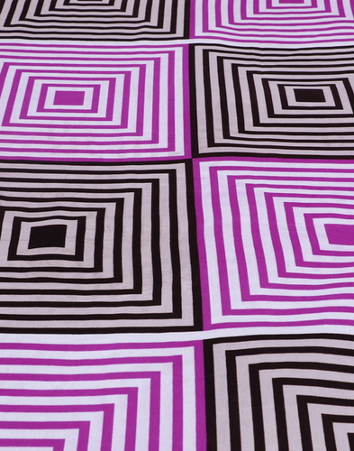 Cocofoam Double Poly Cotton Multi Abstract Bed She