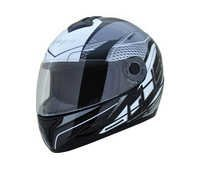 GLISS 250 WHITE BLACK SILVER HELMET