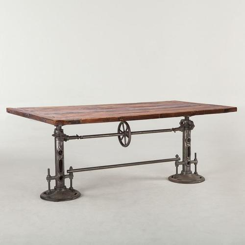 Industrial Cast iron base double crank mechanism dining table