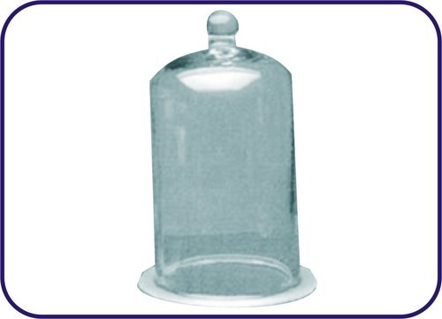 BELL JARS WITH KNOB & GROUND RIM (CLOSED AT TOP)