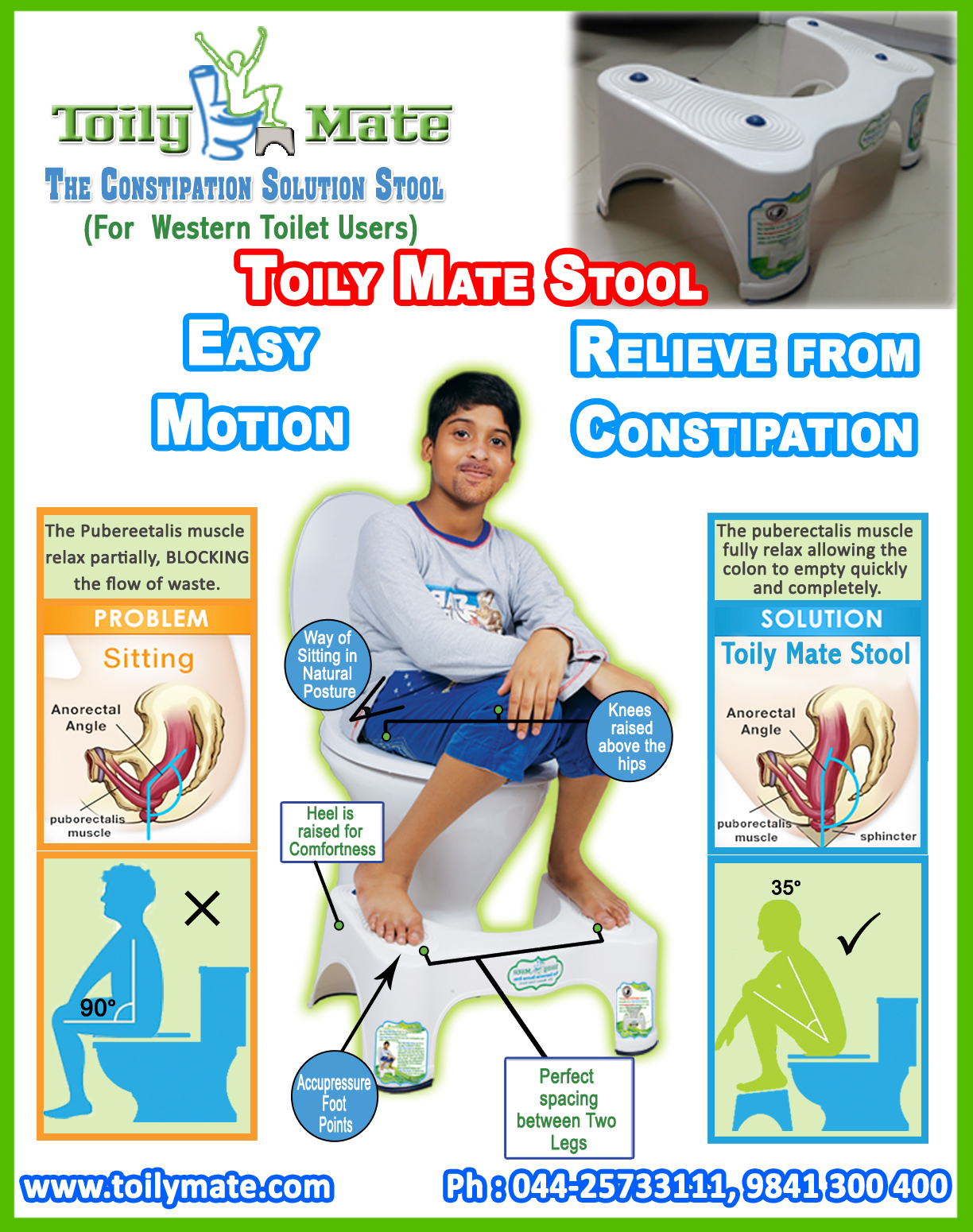 Squatty Potty Stool for Western Toilets