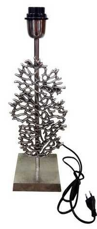 Cast aluminium table lamp
