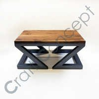 Z SQUARE WOODEN COFFE TABLE