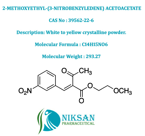 2-Methoxyethyl-(3-Nitrobenzyledene) Acetoacetate