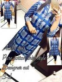 Pure Cotton Shirt Style Kurti