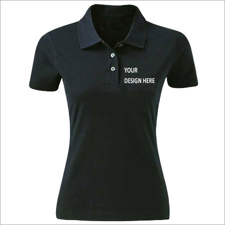 Ladies Black Corporate T-Shirt