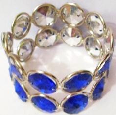 Navy Blue Crystal Napkin Ring