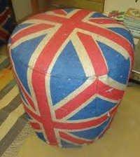 jute round stool
