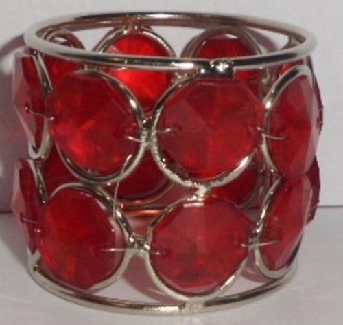 BIG RED CRYSTAL NAPKIN RING