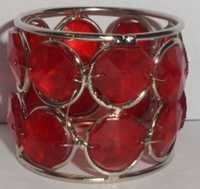 BIG RED CRYSTAL NAPKIN RING