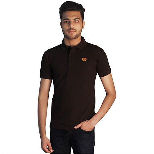 Mens Plain Polo Neck T-Shirt