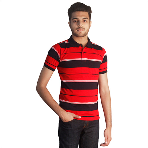 Mens Customized Print Cotton Polo T-Shirt