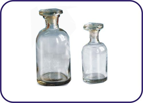 REAGENT BOTTLE WITH DUST PROOF FLAT STOPPER WIDE MOUTH