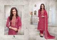 Cotton work suits with chiffon dupatta mcm farhaa