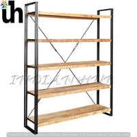 Industrial Large Open Bookcase