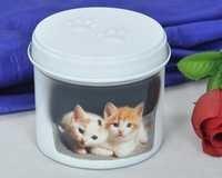 ROUND PET CAT URN