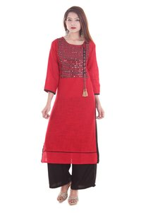 Rayon Double Cut Long Kurti