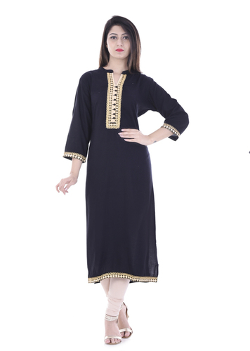 Rayon Embroidered Work Kurti
