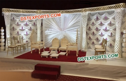 Diamond Ball Crystal Pillar Wedding Stage