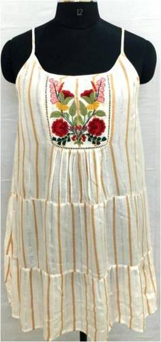 Ladies Embroidered One Piece Dress