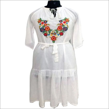Ladies Embroidered Long Top