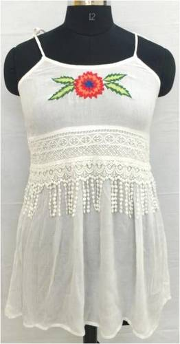 Ladies White One Piece Dress