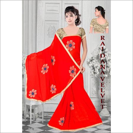 Ladies Rai Dana Velvet Sarees