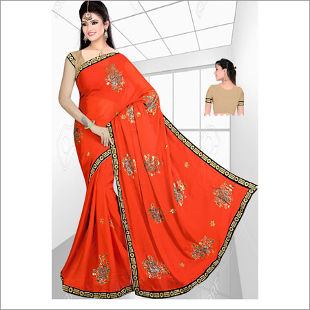 Ladies Cut Dani Velvet Sarees