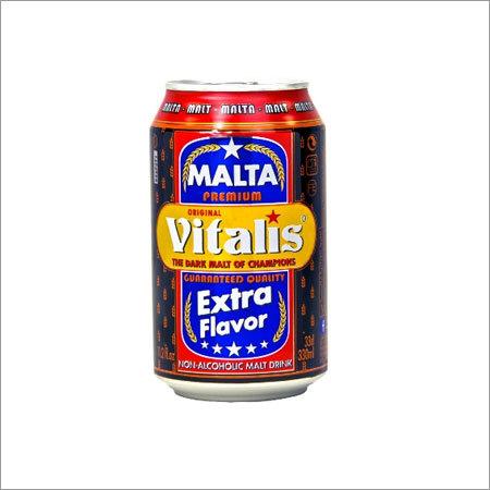 Vitalis Non Alcoholic Dark Malt Beverage Canned