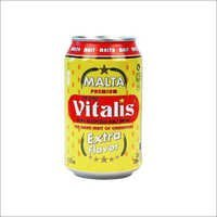 Vitalis Yellow Non-Alcoholic Dark Malt Beverage Canned