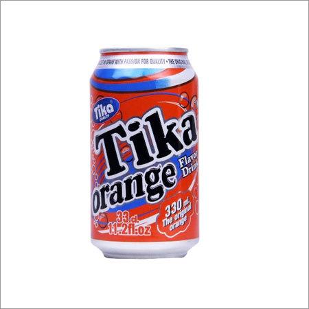 Tika Carbonated Orange Flavor Drink Canned