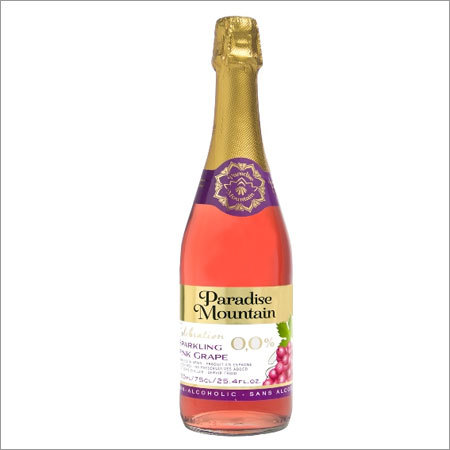 Sparkling Fruit Juice Drink Non-Alcoholic Paradise Mountain Rose Grape