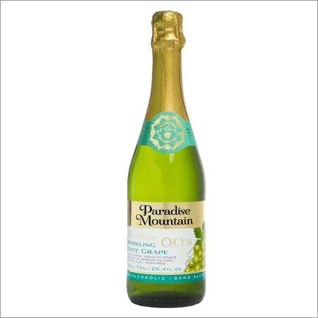 Sparkling Fruit Juice Drink Non-Alcoholic Paradise Mountain White Grape