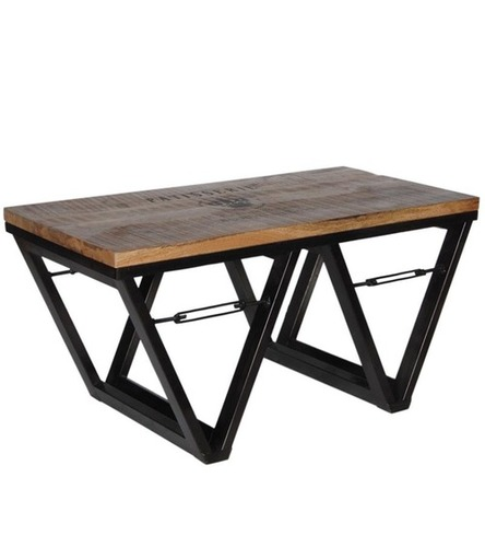 """W"" Shaped Industrial Coffee Table"