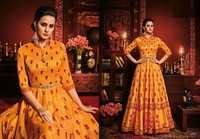 Silk Gown Style Designer Suit Online Shopping