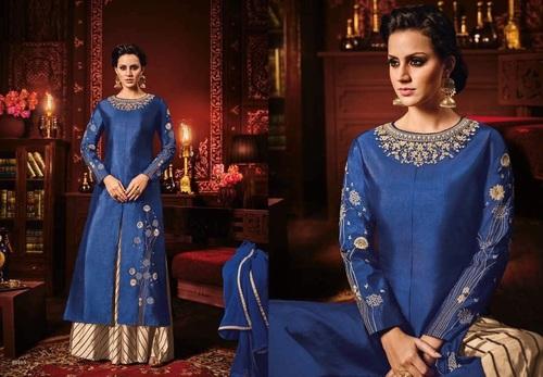 Silky Shine Designer Indo Western Suit Online