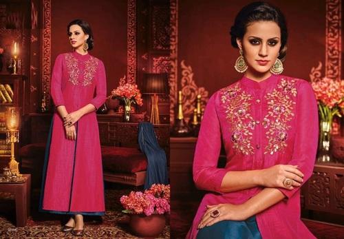 Beautiful Magenta Indo Western Suit Online
