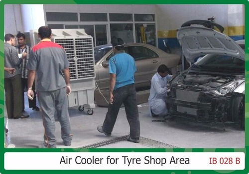 Air cooler for Tyre Shop Area
