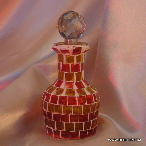 Beautiful Mosaic Decanter Glass Decanter Bottle
