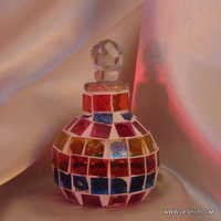 MOSAIC PERFUME BOTTLE AND DECANTER