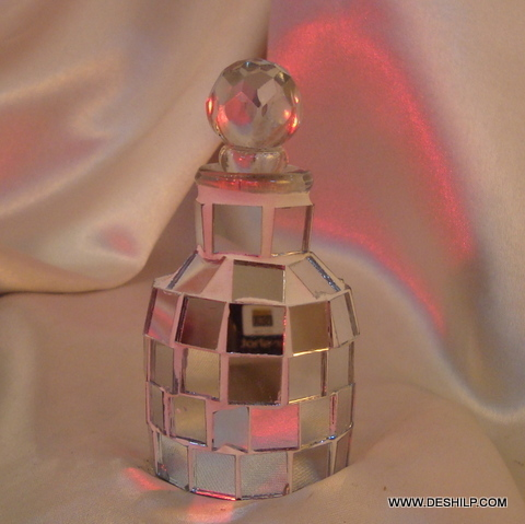 Vintage Amber Glass Hand Hammered Pewter Bottle Decanter Holland Daalderop